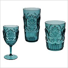 To coordinate with Le Cadeaux melamine dinnerware, these new polycarbonate (i.e. plastic) drinking sets are just the ticket. Perfect for al fresco or casual indoor entertaining. Lead and cadmium free. Break resistant. Lightweight. Dishwasher safe. NOT Microwave safe. Polycarbonate is a versatile, tough plastic used for a variety of applications, from bulletproof windows to compact disks (CDs). The main advantage of polycarbonate over other types of plastic is unbeatable strength combined… Melamine Dinnerware, Tableware, Iced Tea Glasses, Types Of Plastics, Compact Disc, Fresco, Ticket, Microwave, Wine Glass