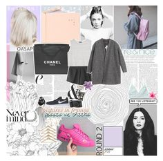 """""""STAND THERE LIKE A GHOST"""" by feels-like-snow-in-september ❤ liked on Polyvore featuring Assouline Publishing, Chanel, Monki, MANGO, Chicnova Fashion, PAM, NIKE, loser, backoff and relatable"""