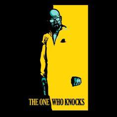 Camiseta Breaking Bad. Scarface, negra Camiseta Breaking Bad con la imagen de Walter White simulando el reconocible logo del film Scarface.