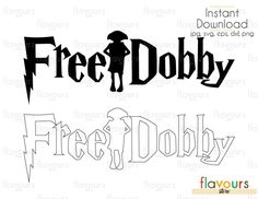 Free Dobby - Harry Potter - Cuttable Design Files (Svg, Eps, Dxf, Png, Jpg) For Silhouette and Cricut Harry Potter Stencils, Harry Potter Decal, Harry Potter Shirts, Harry Potter Theme, Dobby Harry Potter, Harry Potter Halloween, Harry Potter Diy, Harry Potter Schrift, Silhouette Portrait