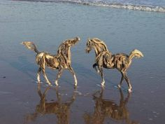 Driftwood Horses by Heather Jansch 05  These are amazing!