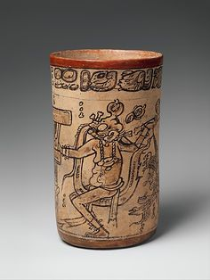 Codex-Style Vase with Mythological Scene. Mesoamerica, Guatemala or Mexico, Maya, 7th or 8th century.