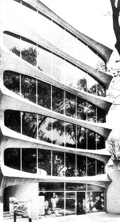 Edificio de oficinas, av. Insurgentes Sur 1768, Col. Florida, Álvaro Obregón, México DF 1966 Arq. Ignacio Miranda - Office building, av. Insurgentes Sur 1768, Florida, Alvaro Obregon, Mexico City 1966