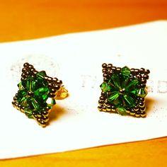 Handmade Beaded Jewelry, Swarovski Crystals, Stud Earrings, Create, Studs, Stud Earring