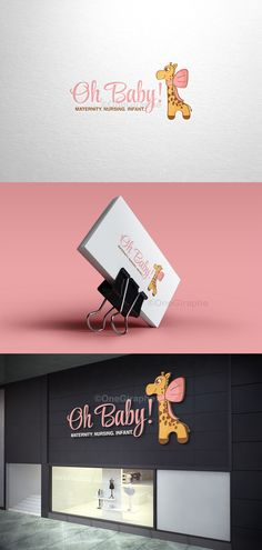 Branding for baby! Onegiraphe@gmail.com  www.One-Giraphe.com #newborn #baby #logo #logodesign #cute #sleep #sleepy #graphic #design #designer #portfolio #behance #logopond #brandstack #store #kids #children #logodesign #design #designer #brand #brandidentity #giraffe #bow Logo Boutique, Kids Boutique, Hotel Boutique, Boutique Design, Baby Shop, Baby Store Display, Clothing Brand Logos, Storing Baby Clothes, Kids Logo