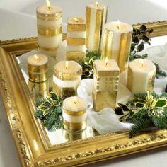 Gilded-Pillar Candles  http://www.bhg.com/holidays/gilded-pillar-candles/