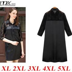 MNX Robe Ete 2015 Fashionable Half Sleeves Hollow Plus Size 5XL Women T shirt Dress Black Knee Length Lace Knee Length Dress - http://www.aliexpress.com/item/MNX-Robe-Ete-2015-Fashionable-Half-Sleeves-Hollow-Plus-Size-5XL-Women-T-shirt-Dress-Black-Knee-Length-Lace-Knee-Length-Dress/32354674985.html