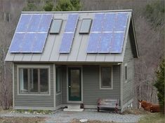 Is your tiny place off the grid? Learn how to power your own cabin, especially if getting electricity is impractical. Pretty darn cool. | #DIY Remote solar power cabin kits | Tiny Homes