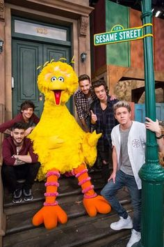 One Direction Sings Their ABCs With Sesame Street Character Bert