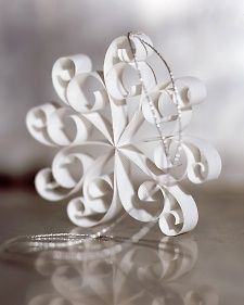 DIY- how to make Snowflakes out of scraps of paper. Great for ornaments, packages, hanging decorations, etc.