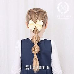 From my Instagram @flettemia: #hairvideo for this style we did on Emma earlier this year: rope braids into a stacked braid with a fishtail bubble braid and a rope braid 👑 Beautiful bow from #TheSnappyBowtique // #hårvideo for denne frisyren vi laget på emma tidligere i år: taufletter over i flette med fiskebeinsbobler og tauflette over 👑 Nydelig sløyfe fra the snappy bowtique Hair Videos, Photo And Video, Hair Styles, Instagram, Fashion, Moda, La Mode, Hair Looks, Fasion