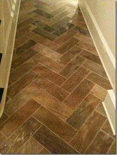 Herringbone tile floors... interiors