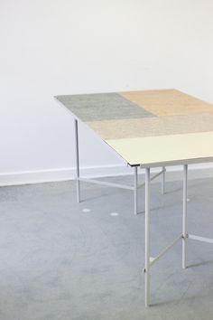 TILE TABLE 04 | Margrethe Odgaard & Christina Liljenberg Halstrøm : 4 reversible linoleum tiles.