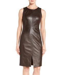 http://www.quickapparels.com/women-leather-ponte-sheath-dress.html