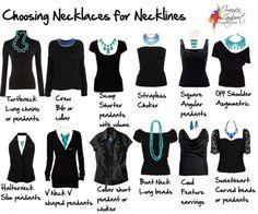 5 consejos de moda, Elegir collar según el escote.