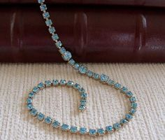 Swiss Blue Tennis Necklace by SunshineSurprises on Etsy, $12.00