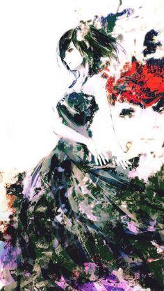 tokyo ghoul, kirishima touka, girl, art, anime, wings
