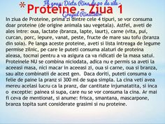 Proteine - ziua 1 Rina Diet, Protein Diets, The Cure, Recipies, Lose Weight, Food And Drink, Health Fitness, Healthy, Excercise