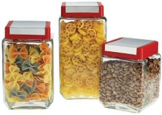 STORAGE SET OF 3 SQUARE CANISTERS by Home Essential & Beyond. $11.99
