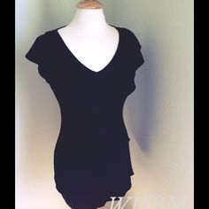 Ruffled LBD Gorgeous tiered LBD! NWOT. Bust:34 Length: 28 NO trades! Poly/spandex White House Black Market Dresses Mini