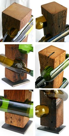 Custom Wine Rack c.1800 Barn Wood by KettlerWoodworks on Etsy