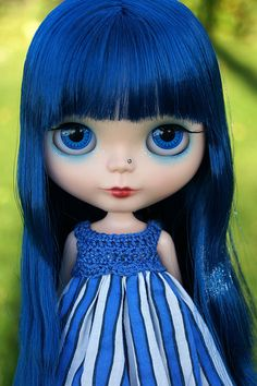 Little Blue Dragon Girl by Kaleidoscope Kustoms