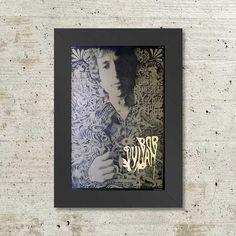 Bob Dylan Hempstead 1966 Framed Concert Sheet by MVS by Innerwallz