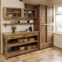 Kitchen Remodeling: Choosing Your New Kitchen Cabinets - Kitchen Remodel Ideas Home Decor Kitchen, Rustic Kitchen, Interior Design Kitchen, Kitchen Furniture, New Kitchen, Home Kitchens, Japanese Interior Design, Glass Kitchen, Kitchen Pantry