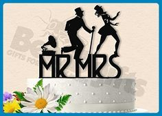 Classy Dancing Couple Wedding Cake Topper Fred and Ginger Inspired - Cake and cupcake toppers (*Amazon Partner-Link)