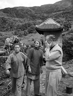 Ingrid Bergman  during the filming of the Inn of the Sixth Happiness