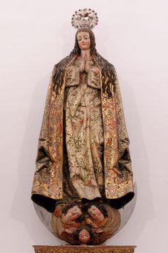 'Inmaculada Concepción' de Gregorio Fernández (Sarria, 1576-Valladolid, 1636). La escultura fue tallada en 1630 en madera tallada