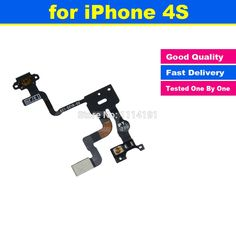 Original Power Button Flex Cable Ribbon Light Sensor Power Switch On / Off Replacement for iPhone 4S