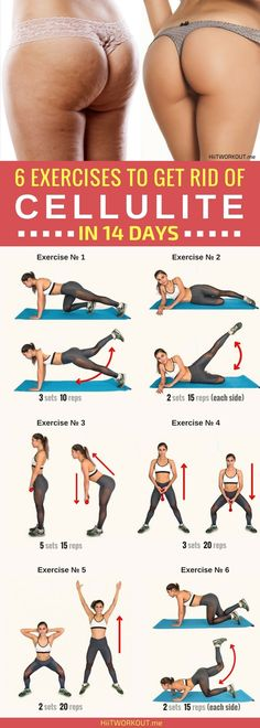 6 effective exercises to get rid of cellulite, designed to tighten the muscles and reduce the thighs and buttocks.