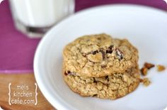 Oatmeal Chocolate Chip Cookies (w/ dried Cranberries, and 1/2 whole wheat flour)- from Mel's Kitchen Cafe