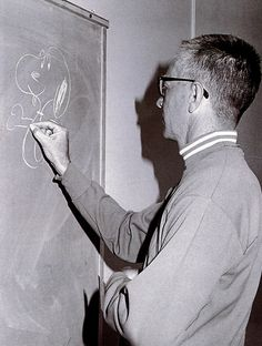 Charles Schulz drawing Snoopy circa 1968.    scanned from A Charlie Brown Christmas :: Harper Collins :: 2000