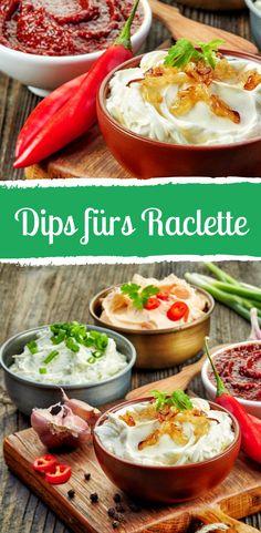 Zum perfekten Raclette-Abend gehören auch die richtigen Dips! Raclette Dip, Recette Raclette, Raclette Party, Raclette Recipes, Party Buffet, Cheese Recipes, Grilling Recipes, Appetizer Dips, Appetizers For Party