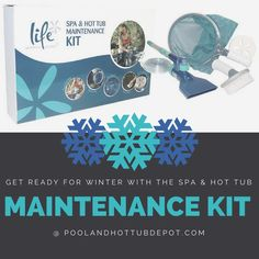 A useful kit to get your #spa clean and ready for #winter!