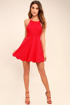 Play On Curves Red Backless Dress 4