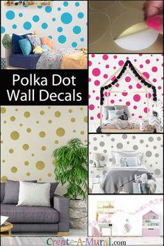 Black Polka Dot Wall Decals (63) Kids Wall Dots