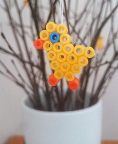 Easter Crafts, Crafts For Kids, Hama Beads, Easter Bunny, Spring Time, Preschool, Geek Stuff, Pearls, Christmas Ornaments