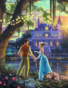 Thomas Kinkade - Disney / Tiana