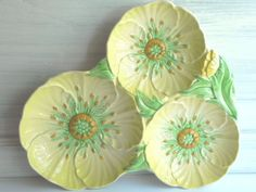 Carlton Ware Divided Buttercup Dish by WeeWoollyBurros on Etsy, $94.00
