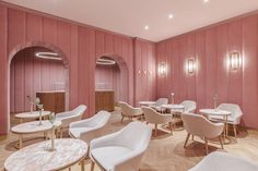 The Buck Studio design team created the dreamiest patisserie I have ever seen! Located in Wroclaw, Poland, The Nanan Patisserie (nanan, means sweetmeats in French), looks like something straight from… Bar Interior, Cake Shop Interior, Interior Paint, Luxury Interior, Cake Shop Design, Cafe Design, Pink Restaurant, Restaurant Design, Restaurant Bathroom