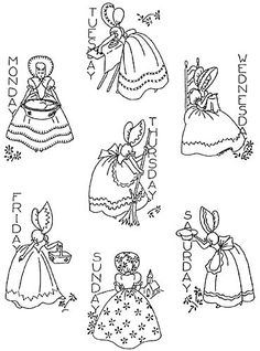 Retro Embroidery Patterns - This iron on transfer is about tall. The hand embroidery design can be done in redwork or use lots of color the choice it yours. Simple Hand Embroidery Patterns, Crewel Embroidery, Vintage Embroidery, Indian Embroidery, Gold Embroidery, Embroidery Ideas, Lazy Daisy Stitch, Embroidery Transfers, Sewing Art