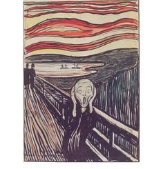 Edvard Munch the Scream white and black painting is shipped worldwide,including stretched canvas and framed art.This Edvard Munch the Scream white and black painting is available at custom size. Edvard Munch, Le Cri Munch, Scream Art, The Scream, Principles Of Art, Art Institute Of Chicago, Art Graphique, Henri Matisse, Art Plastique