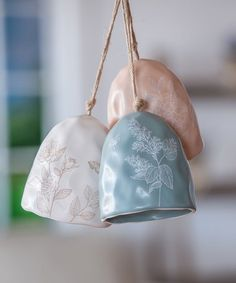 Look what I found on #zulily! Blue Floral Ceramic Bell #zulilyfinds