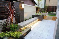 ガーデン施工事例 / ガーデン リフォーム 大和ハウス、テラスのあるおしゃれな庭、おしゃれなベンチ 施工例、庭のリフォーム 施工例 大阪 Backyard, Patio, Home And Garden, Exterior, Outdoor Decor, House, Gardens, Architecture, Home Decor
