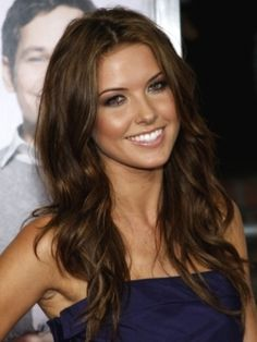 Audrina Patridge:  tv actress with long, brown, tousled/curled hair