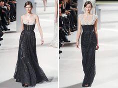 Couture black wedding gown | 2011-elie-saab-wedding-dresses-haute-couture-details-black-lace-ivory ...