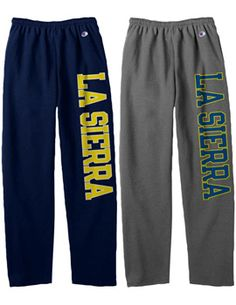 La Sierra University Open Bottom Sweatpants